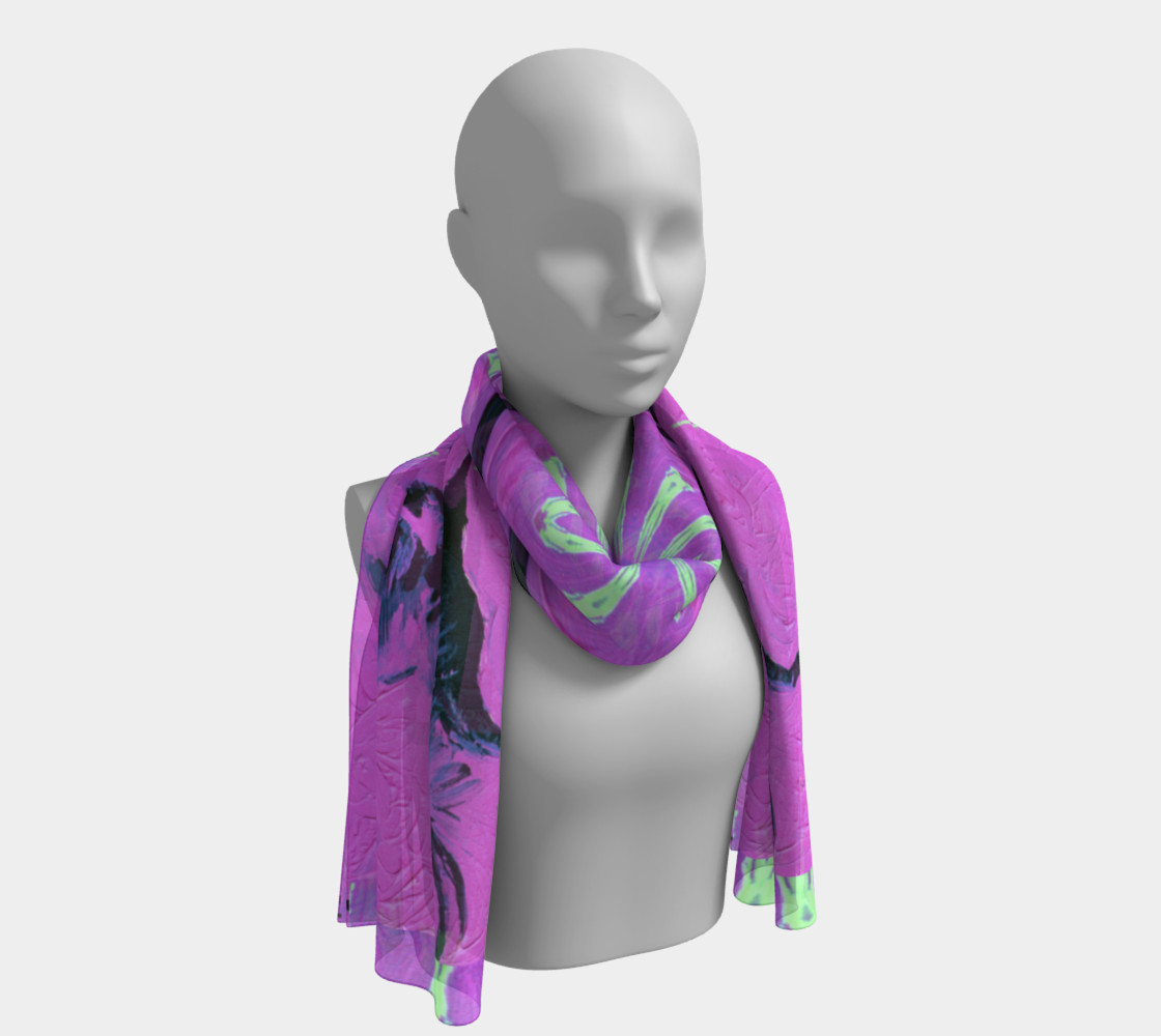 Crane of Paradise Long Scarf preview #1