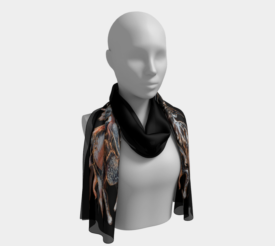 Masquerade Rectangle Scarf 3D preview
