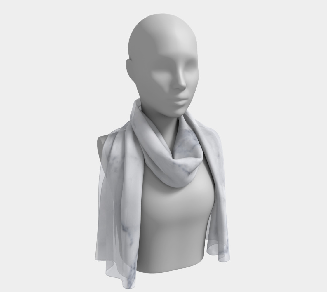 marble long scarf preview #1