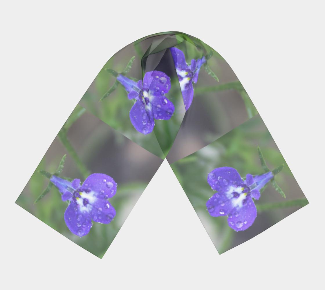 Aperçu de Blue Lobelia with Droplets  #3