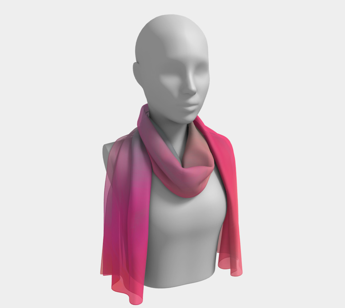 Pastel Perfect Long Silk Scarf  preview #1