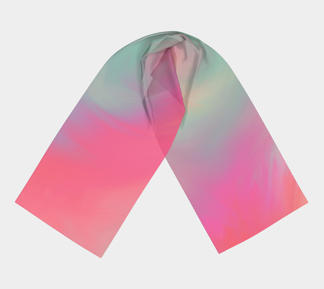 Pastel Perfect Long Silk Scarf  preview #3