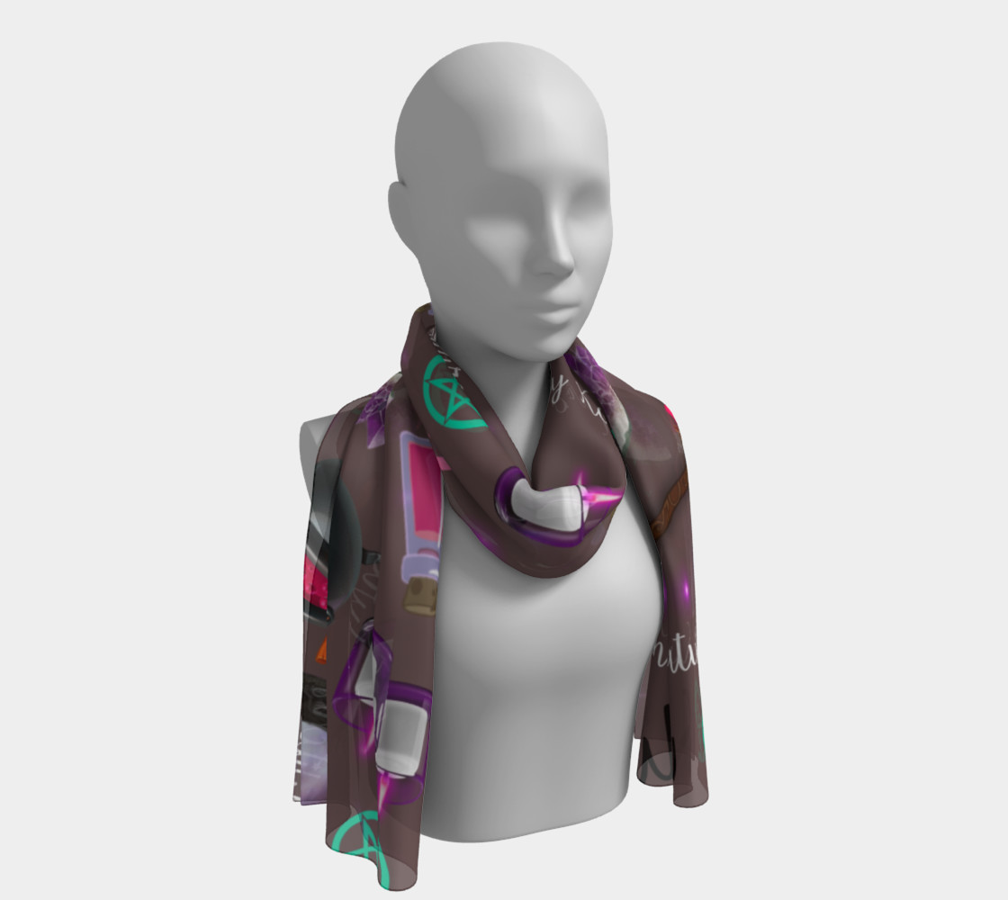 WK #ModernWitchLife Taupe Print Long Scarf preview #1