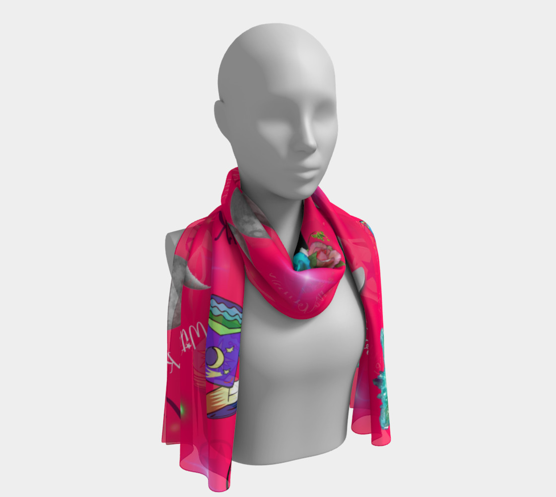 WK #ModernWitchLife Pink Print Long Scarf preview #1