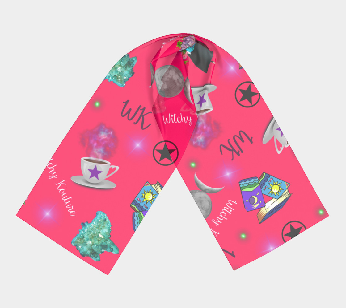 WK #ModernWitchLife Pink Print Long Scarf preview #3