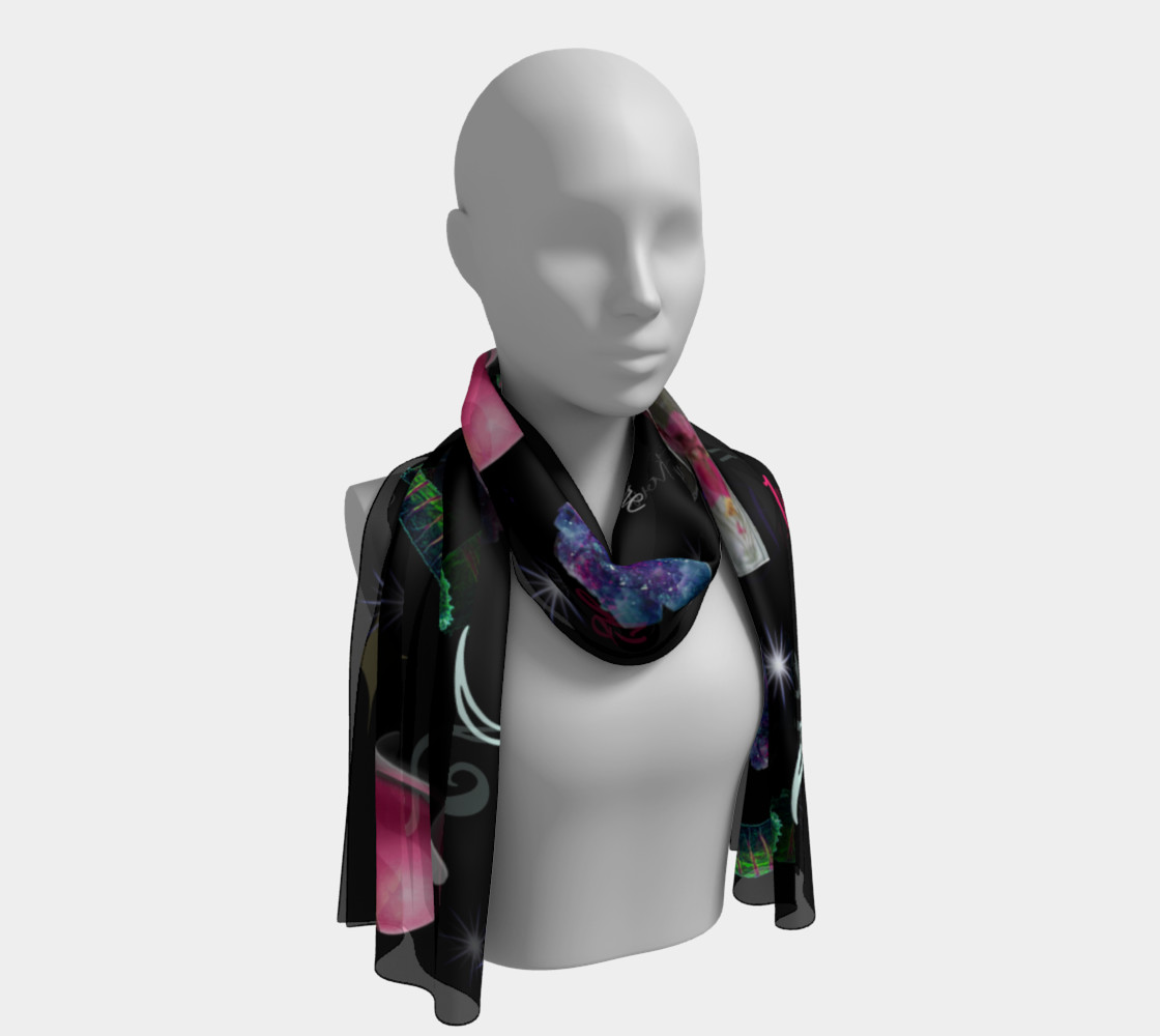 WK #ModernWitchLife Black Print Long Scarf Miniature #2