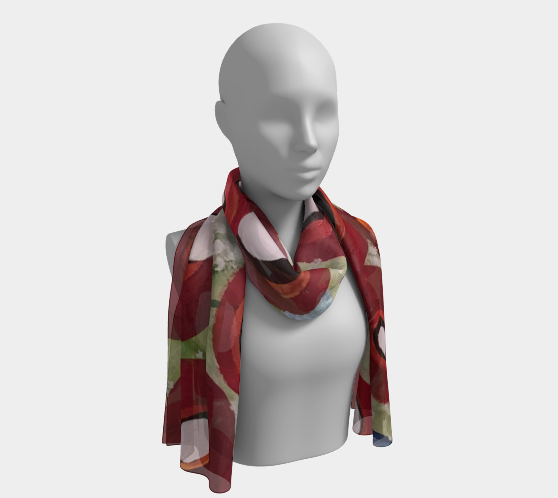 Whimsical Poppy Long Scarf 1 preview #1