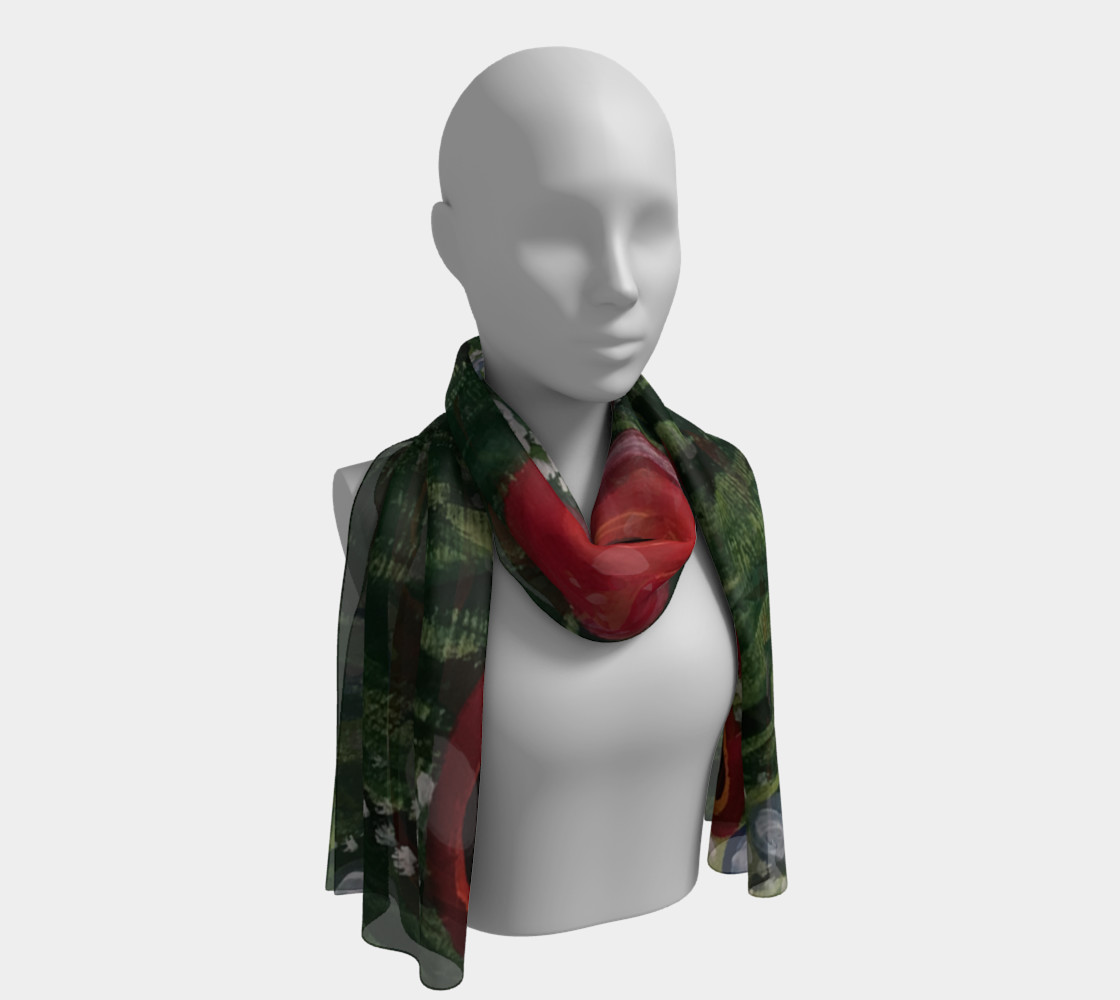 Whimsical Poppy Long Scarf 2 preview #1