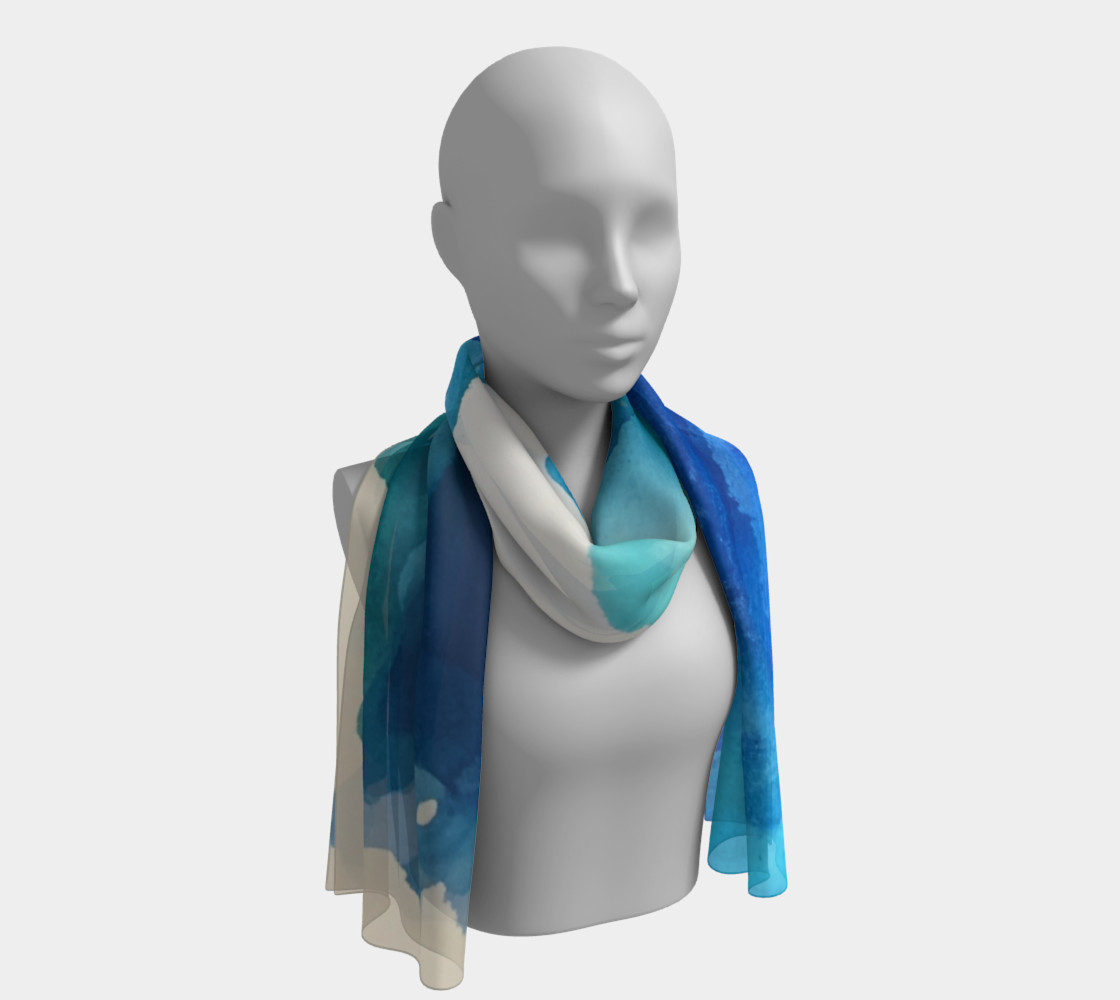 Breathe Into Blue Scarf preview #1