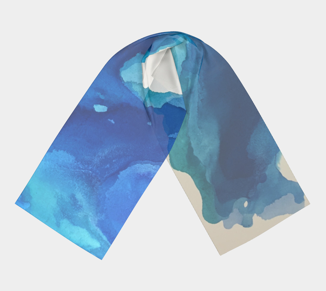 Breathe Into Blue Scarf preview #3