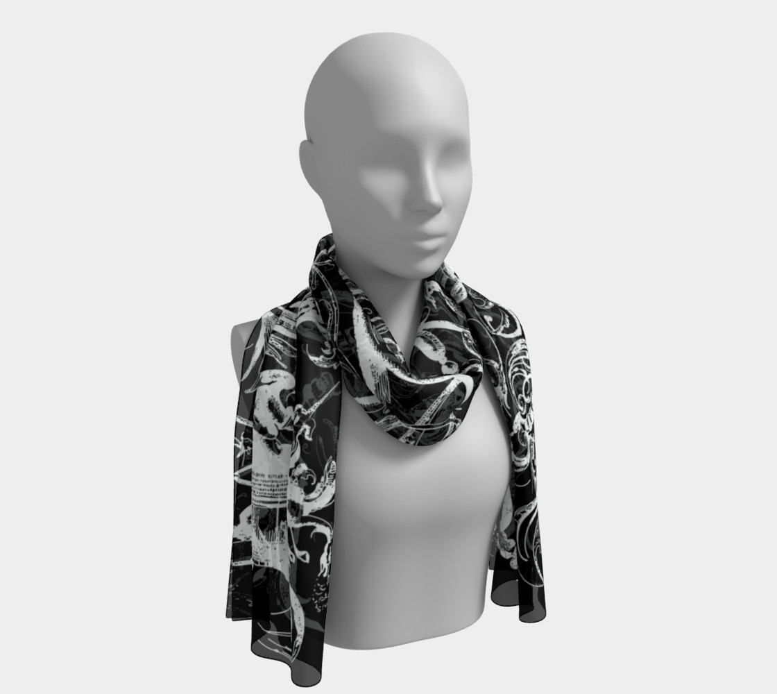 Grotesques B&W - Long Scarf preview #1