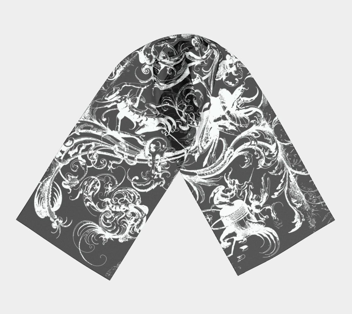 Grotesques B&W - Long Scarf preview #3
