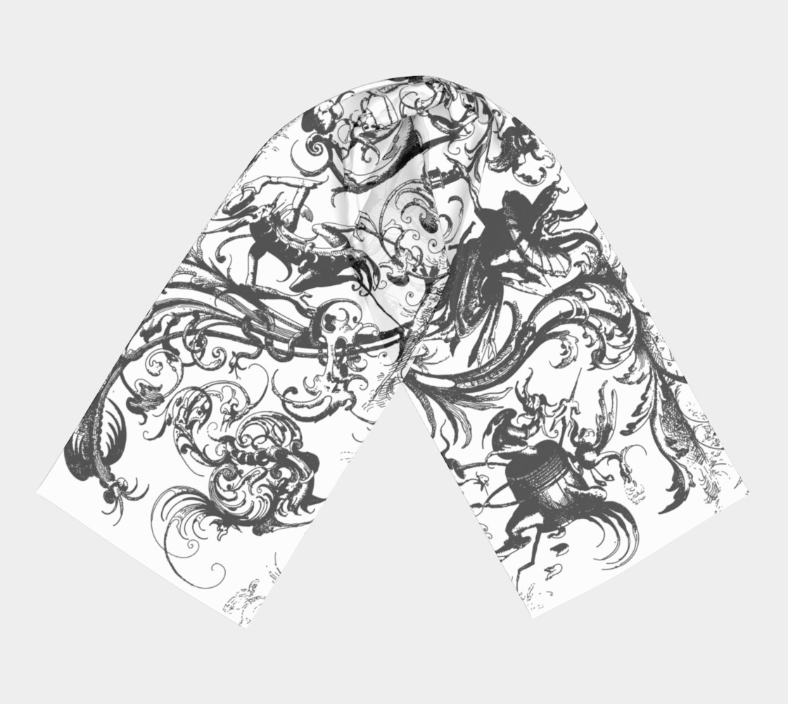 Grotesques W&B - Long Scarf Miniature #4
