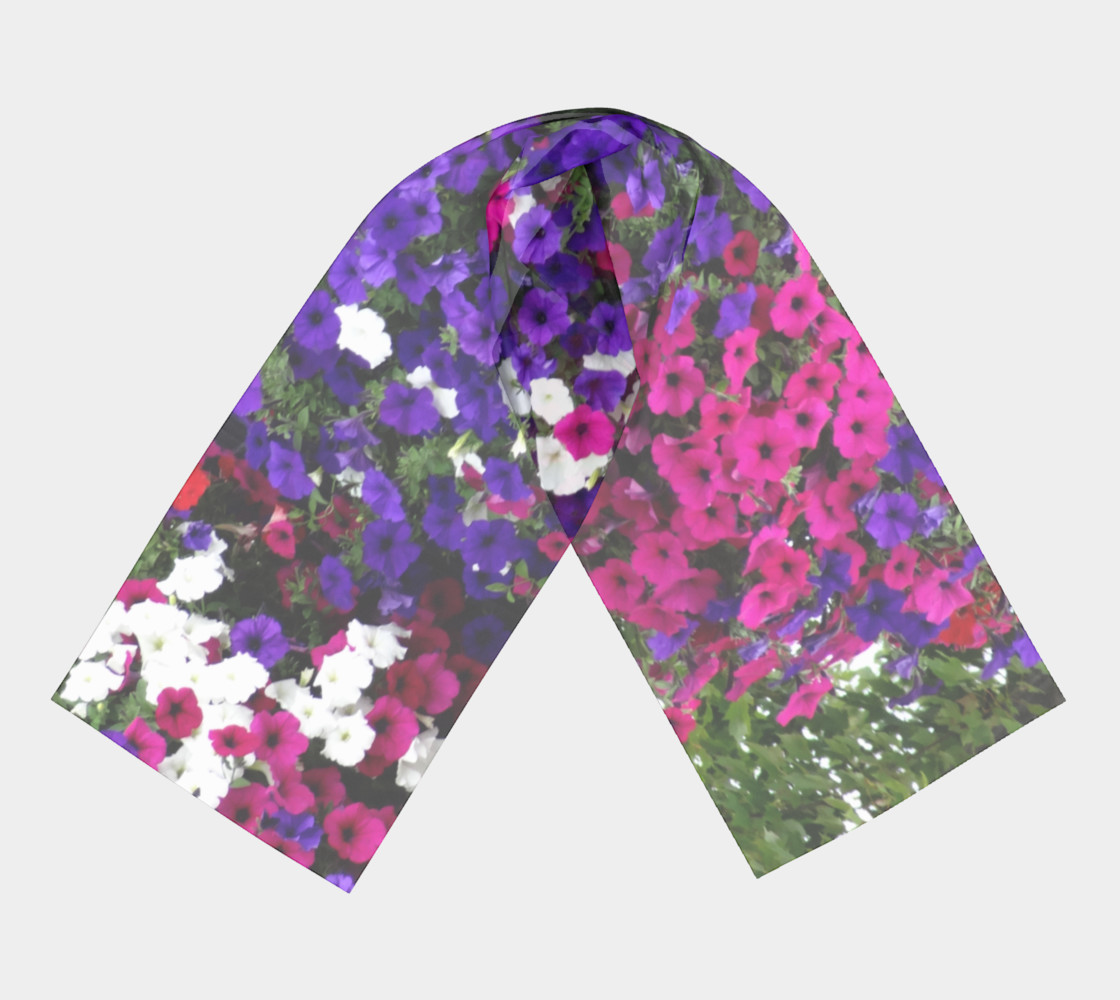 summer floral scarf preview #3