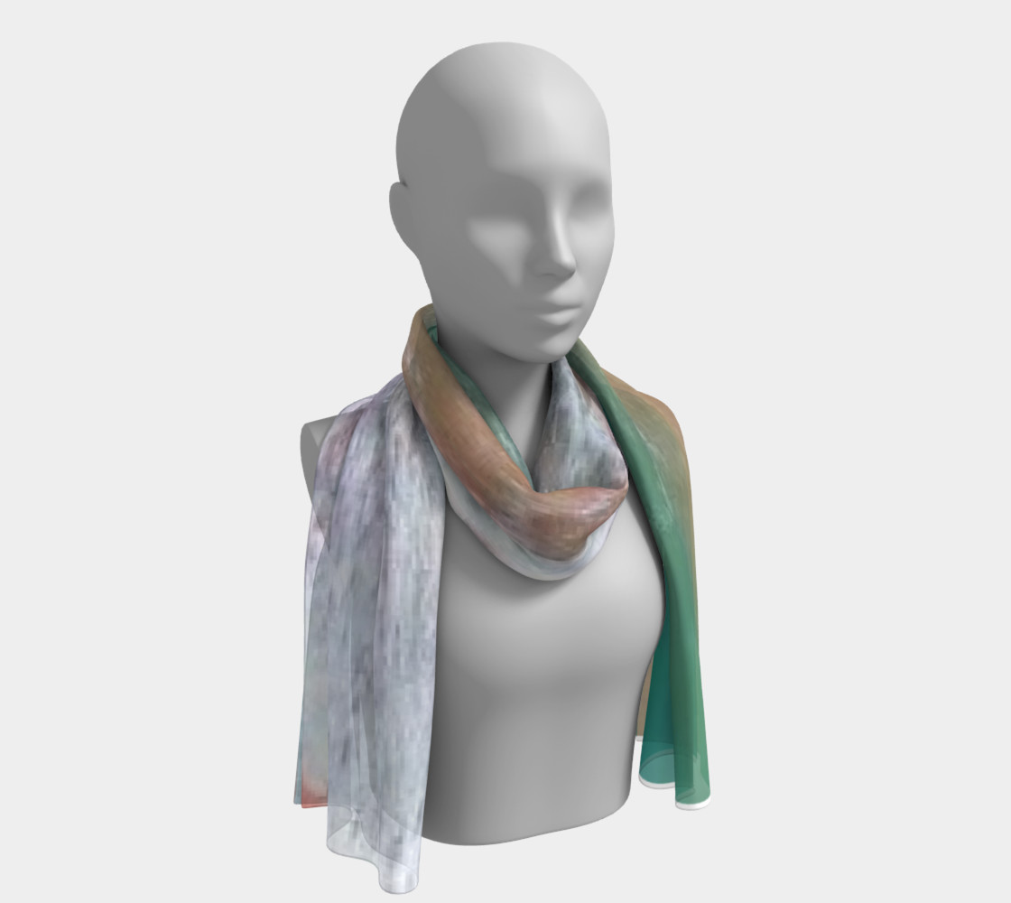 Refreshing maldives, and its aqua verde sea on Silk Scarf preview #1