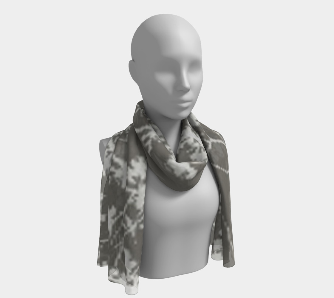 Cotton branches, silk scarf.  preview #1