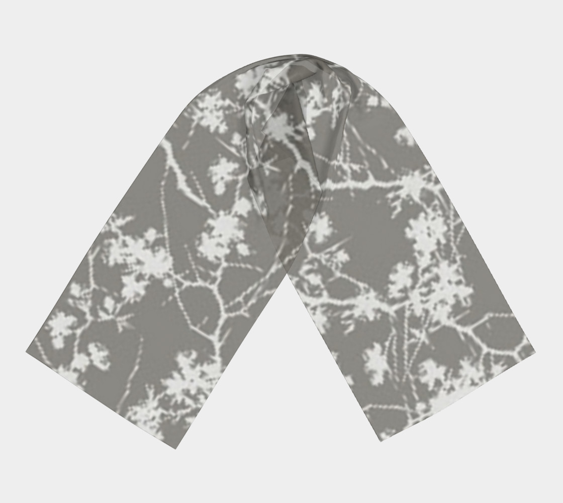 Cotton branches, silk scarf.  preview #3