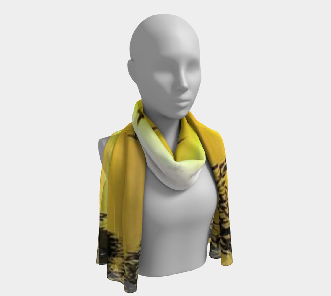 Sundown birdies on silk scarf. preview #1
