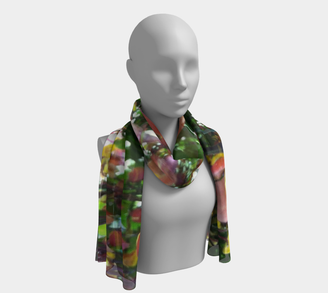 Blooming tiger orchids, long scarf.  preview #1