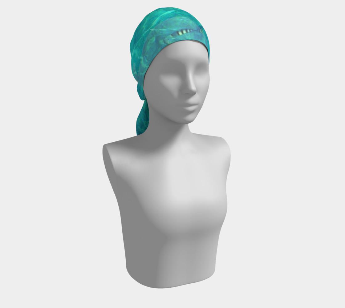 Blue aquatic marine, long scarf. preview #2