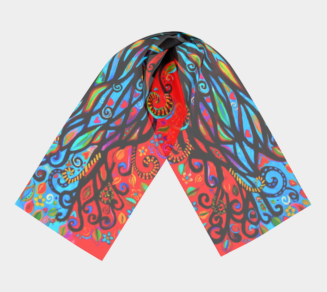 Tree of Life Long Scarf preview #3