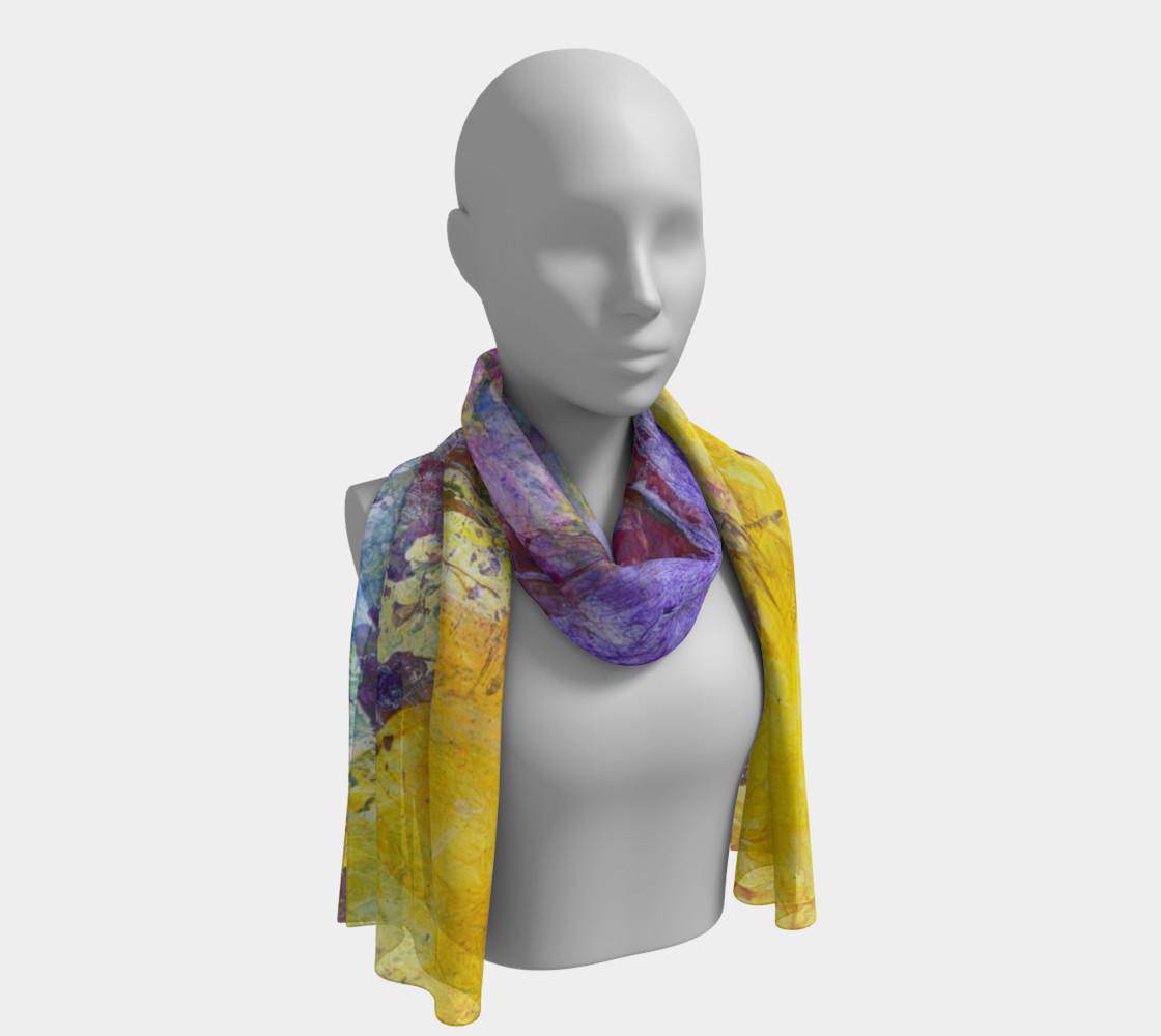 Aperçu de Summer Jazz long scarf center #1