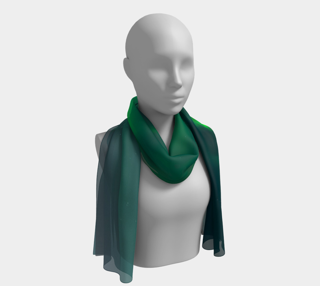 Vivid Northern Lights Long Scarf preview #1