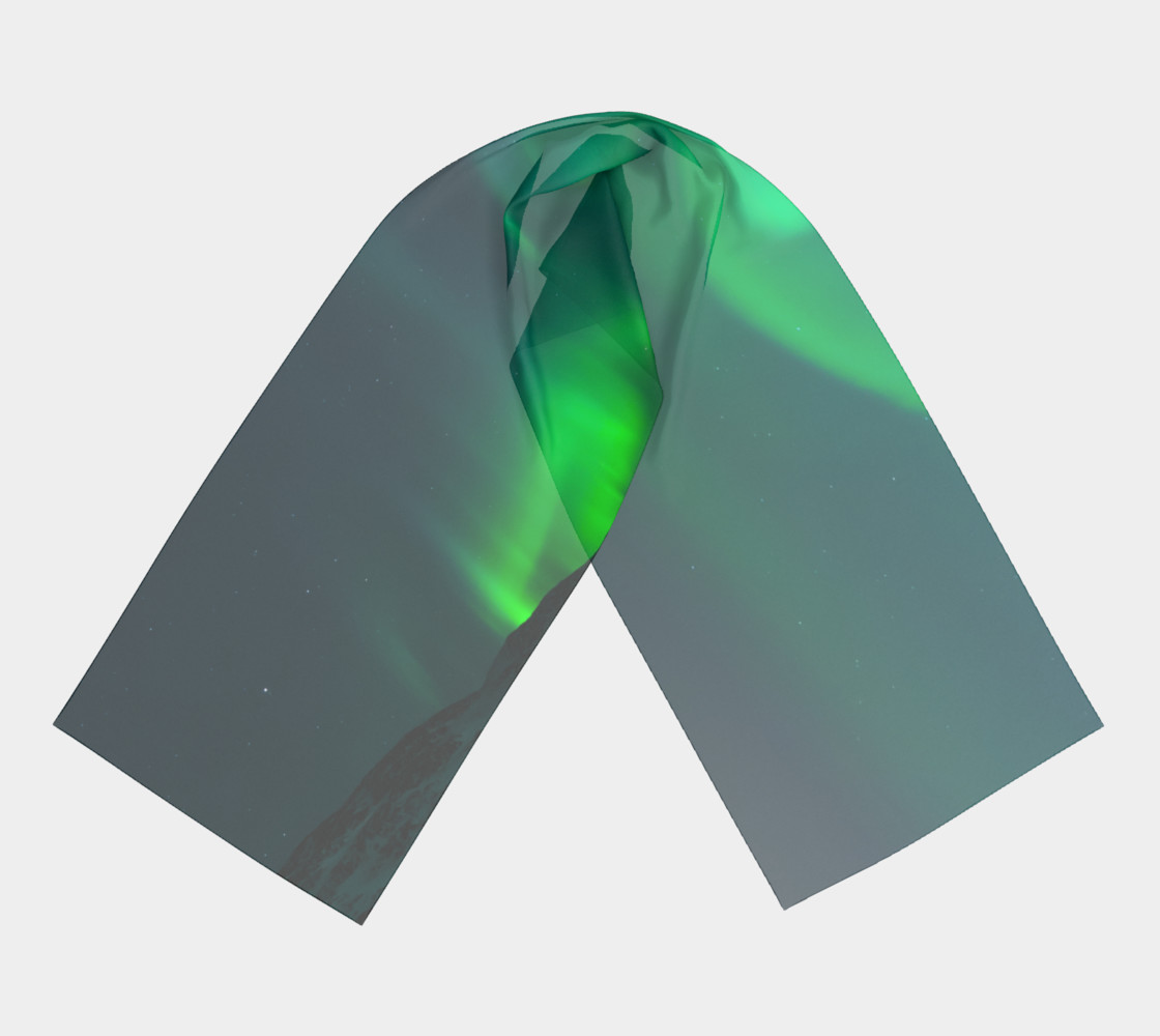 Vivid Northern Lights Long Scarf preview #3