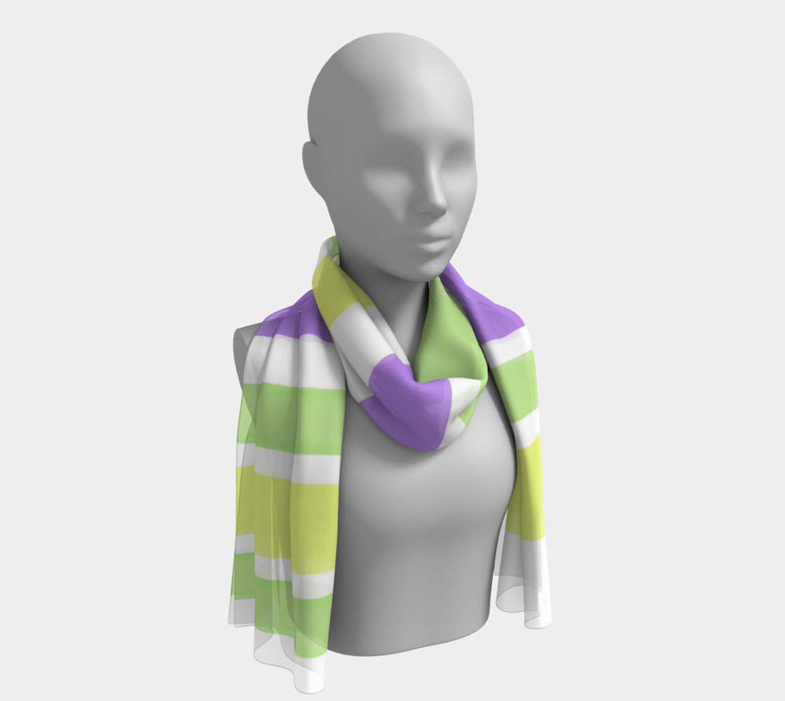 Bright Green Yellow Purple Stripes  preview #1