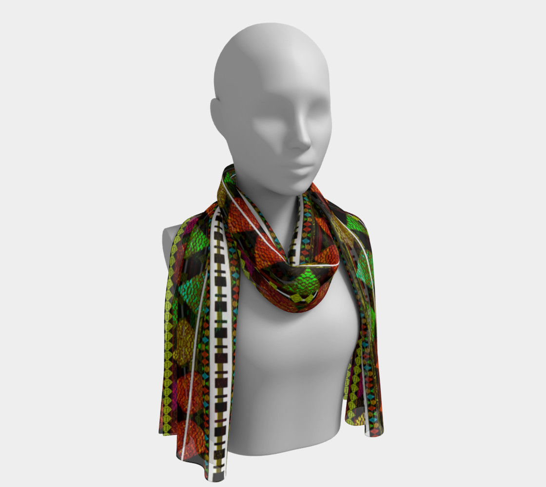 Aztec Style Pattern Long Scarf preview #1