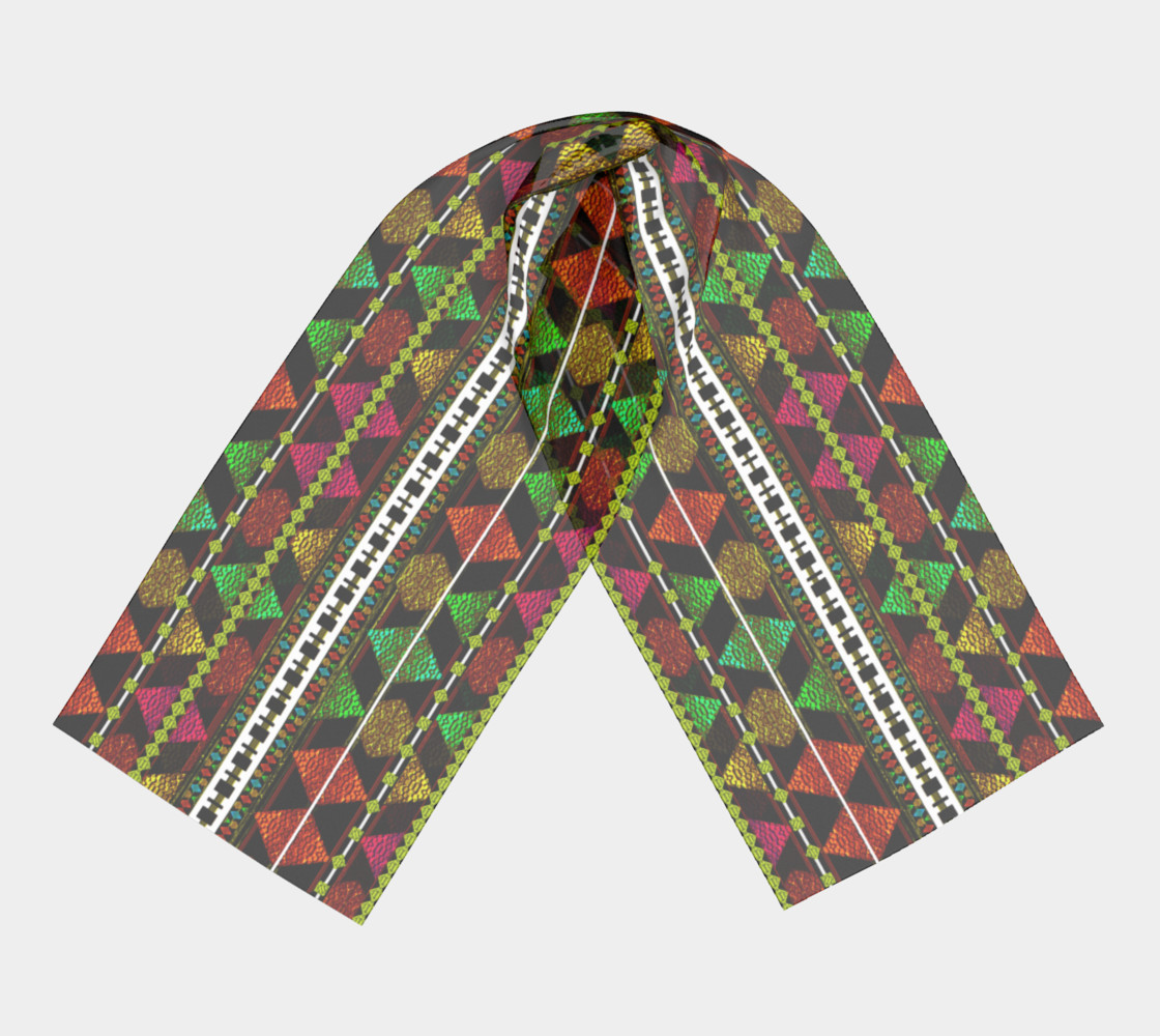 Aztec Style Pattern Long Scarf preview #3
