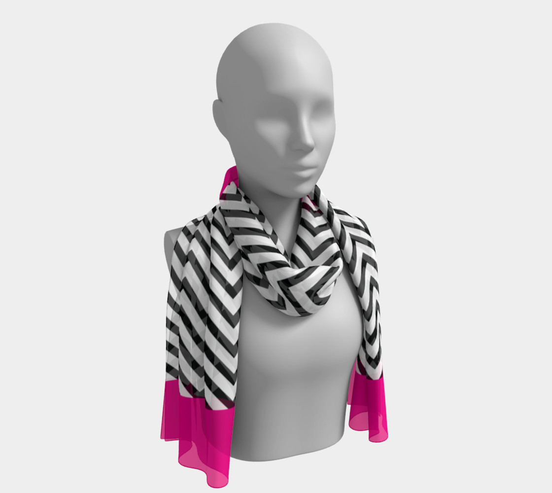 Chevron Chic Hot Pink, Black and White preview #1