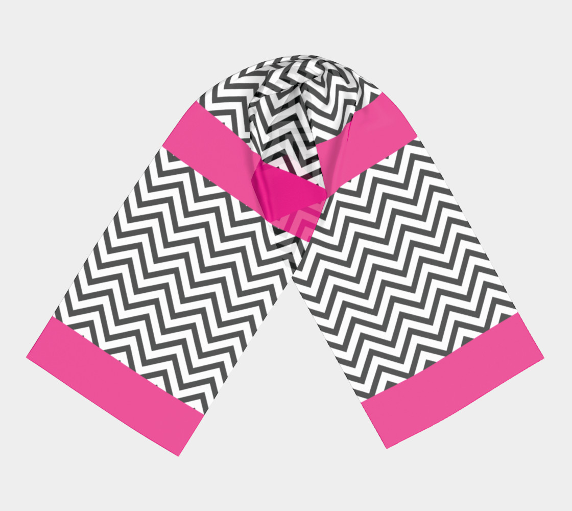 Chevron Chic Hot Pink, Black and White preview #3