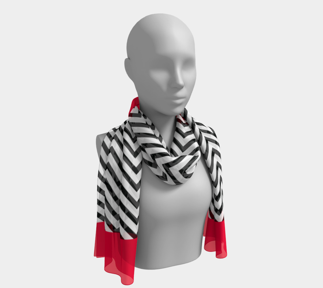 The Lady in Red and Black Chevrons preview #1