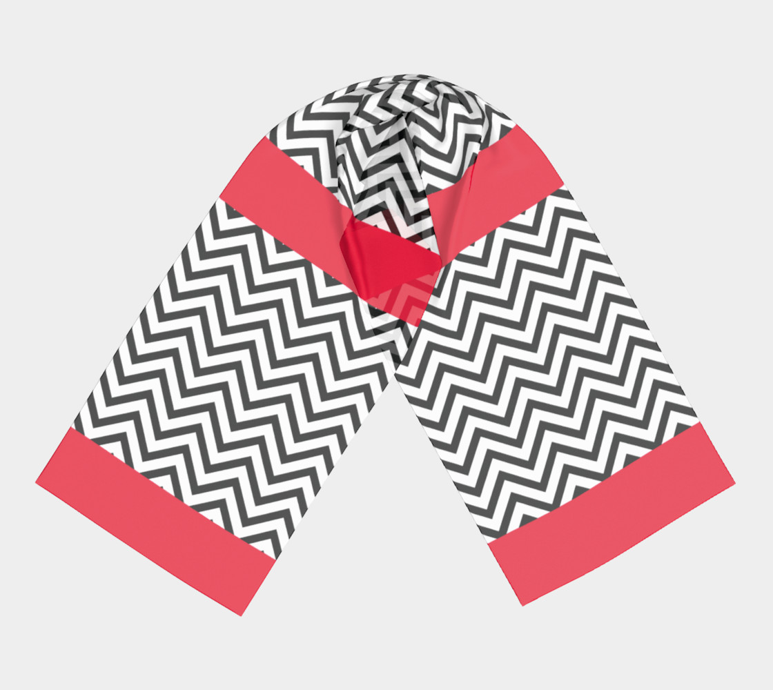The Lady in Red and Black Chevrons preview #3