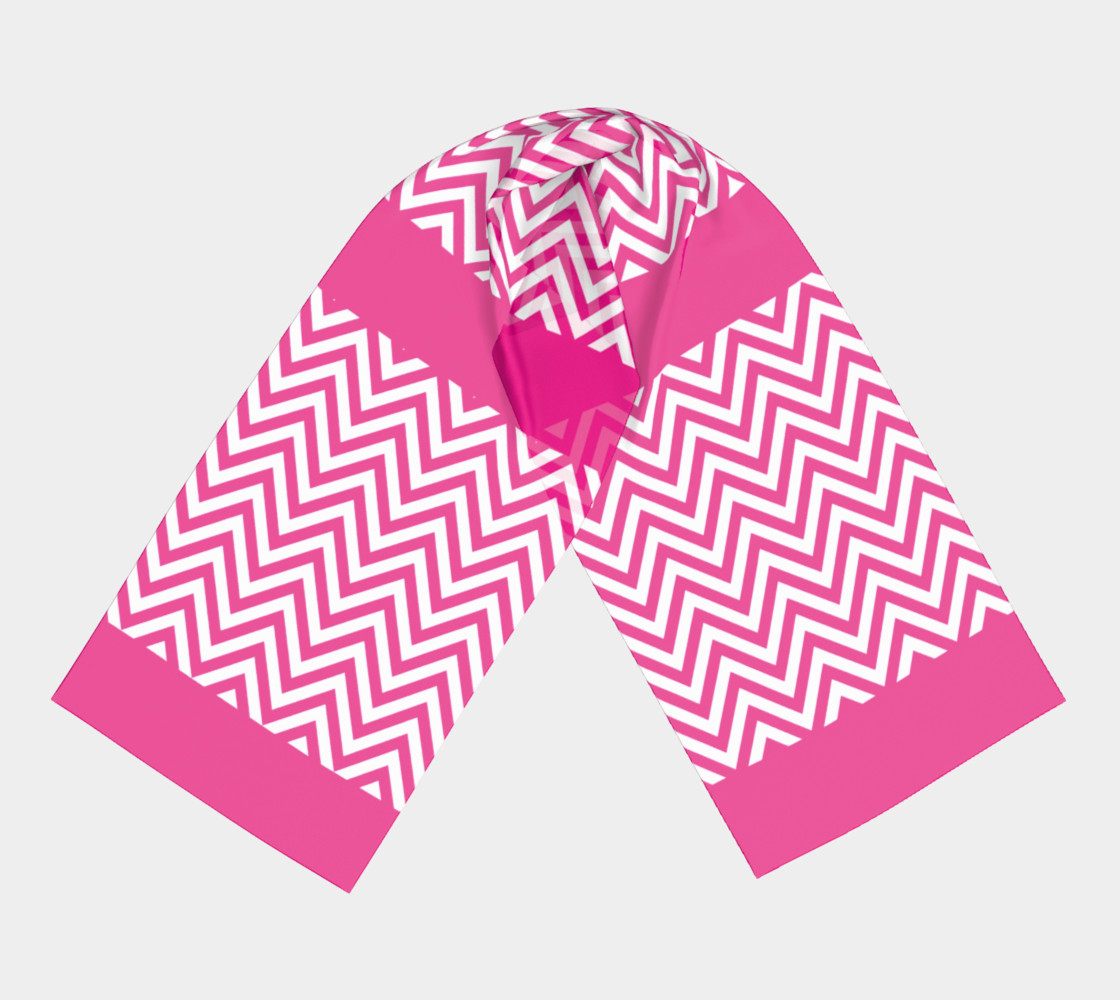 Hot Pink Chevron Stripes Chic preview #3