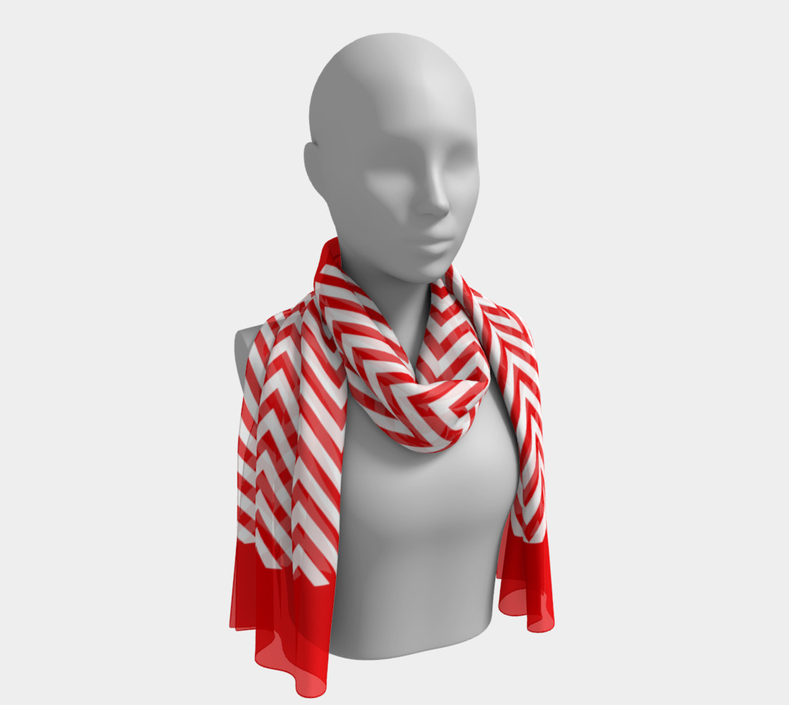 Red and White Chevon Chic preview #1