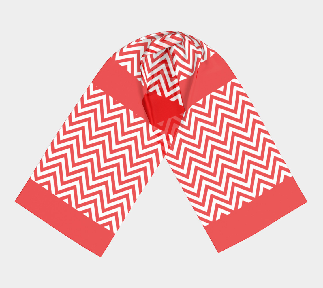 Red and White Chevon Chic preview #3