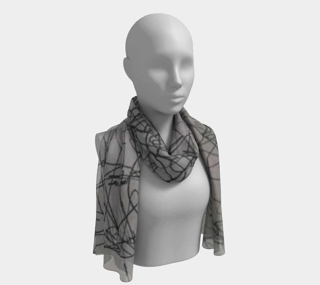 Scribble scarf preview #1
