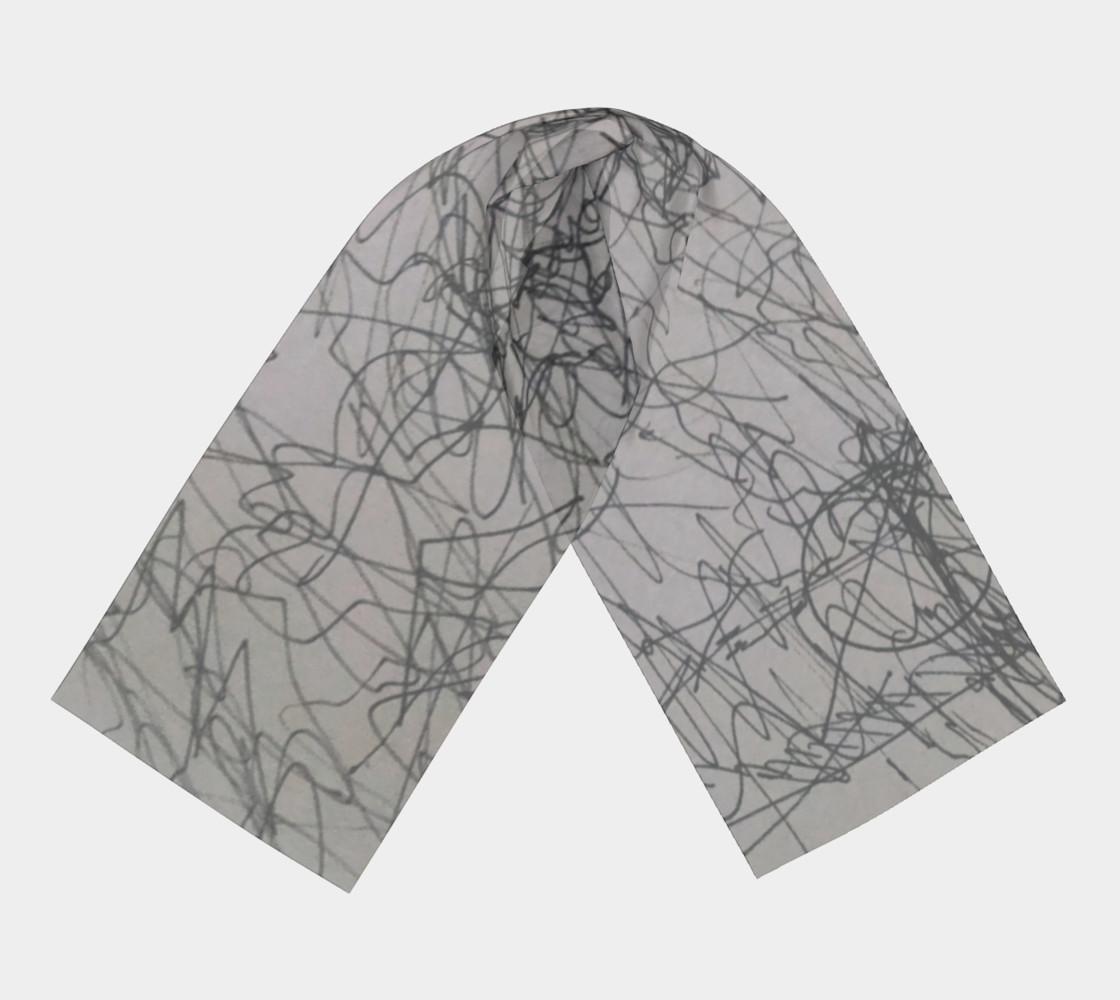 Scribble scarf preview #3