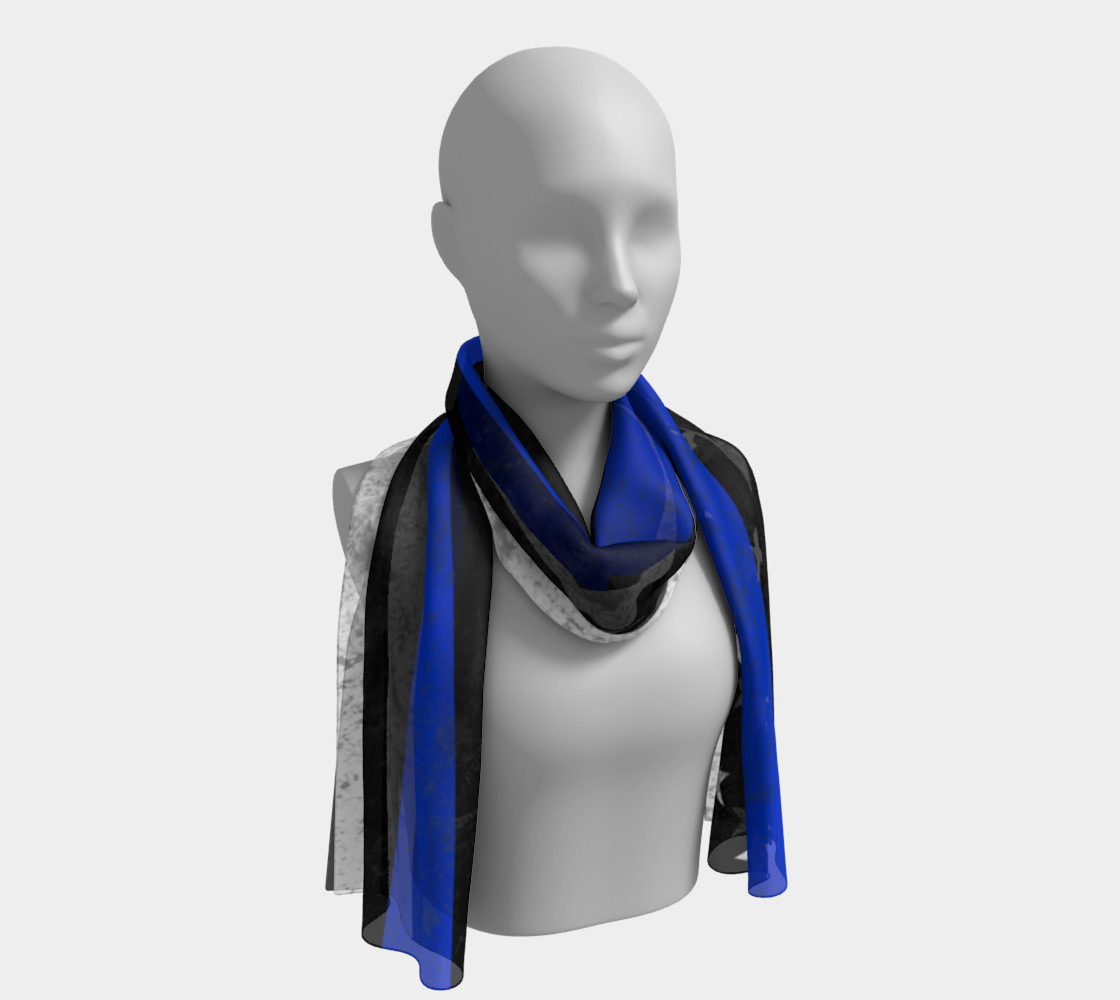 Thin Blue Line Flag Long Scarf preview #1