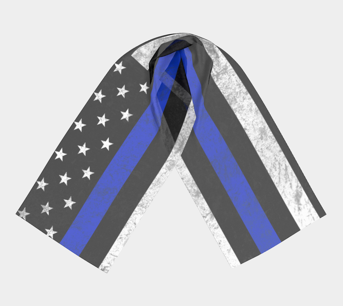 Thin Blue Line Flag Long Scarf preview #3