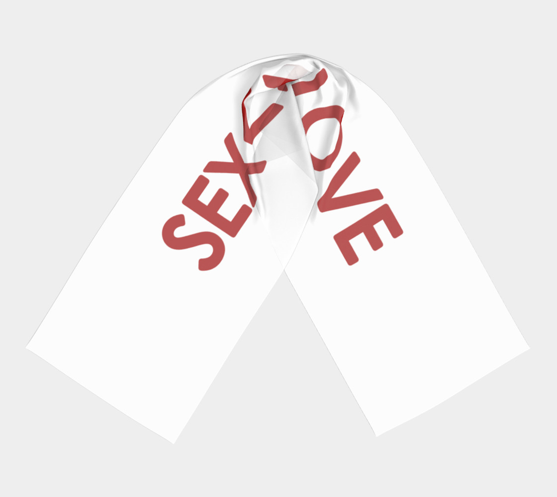 Sex is not Love Concept Design Long Scarf preview #3