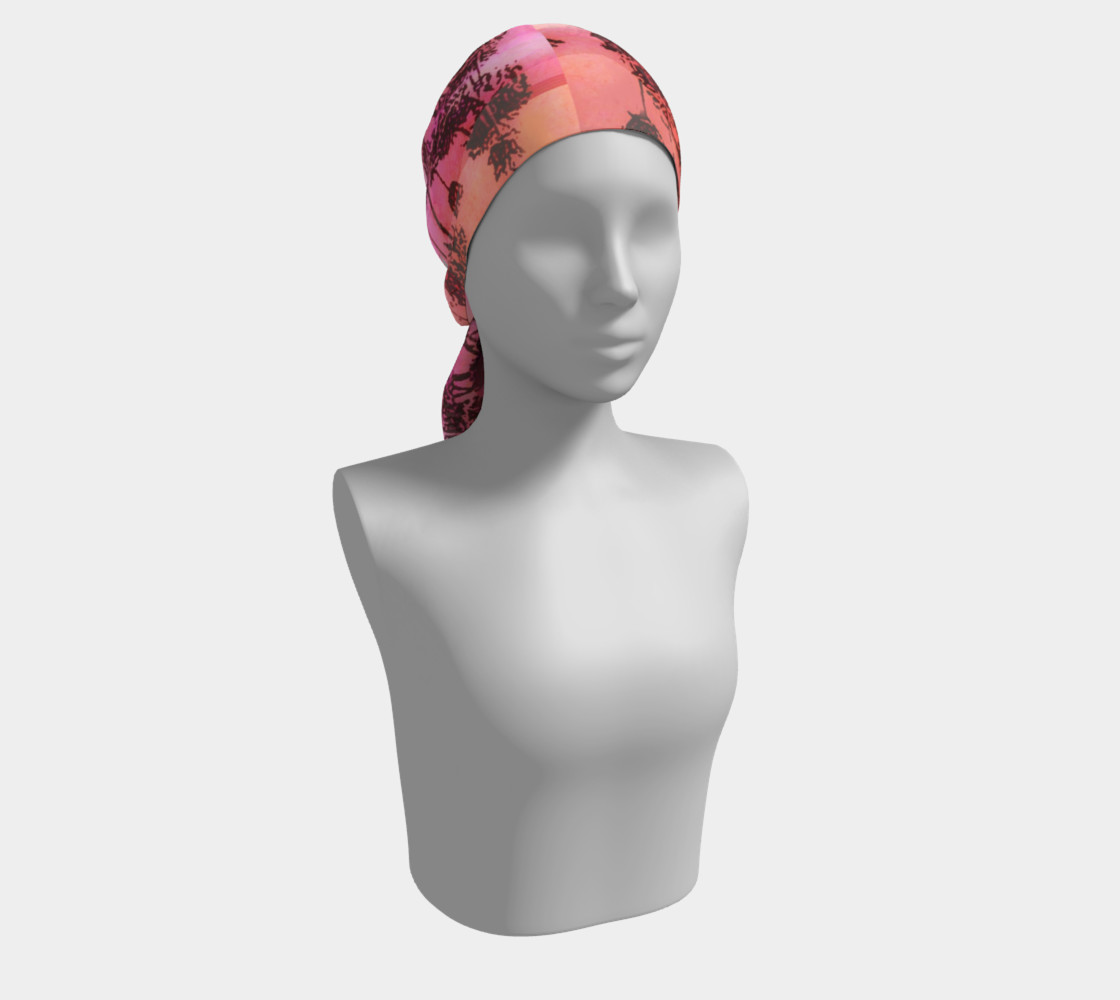 Aperçu de Dusk In Pink and Orange Scarf #2