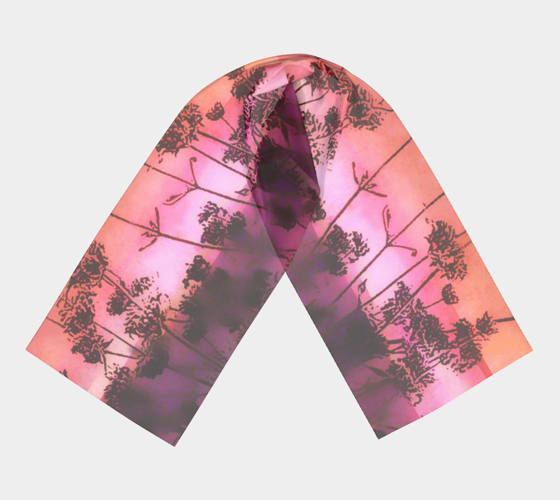 Aperçu de Dusk In Pink and Orange Scarf #3