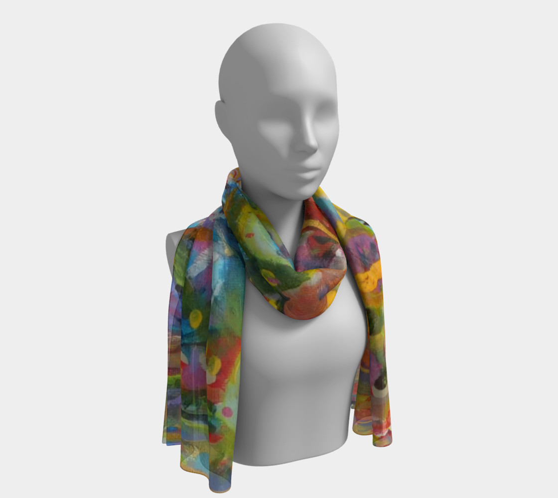 When Deserts Bloom  Long Scarf  3D preview