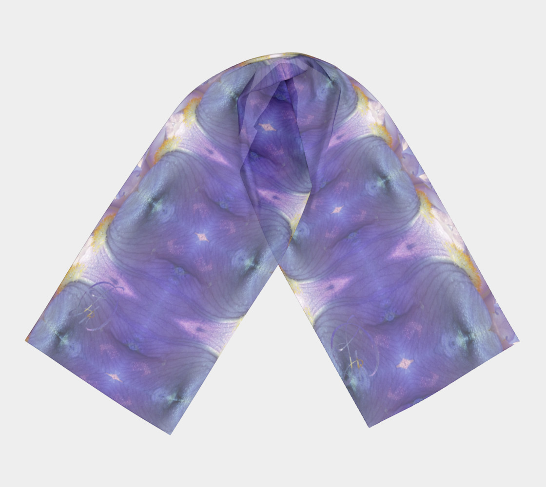 Fluid Violet Iris Long Scarf preview #3