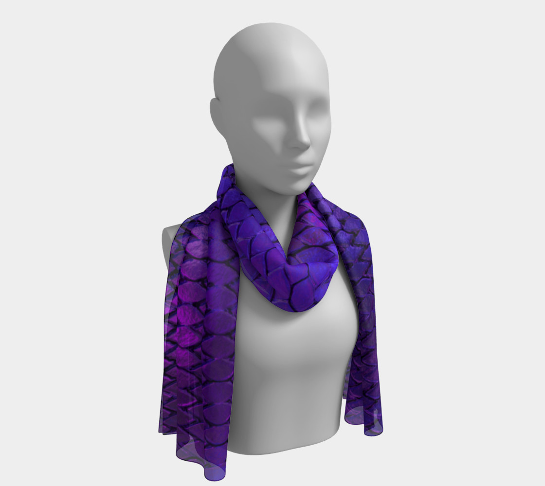 Purple Dragon Scales Long Scarf preview #1