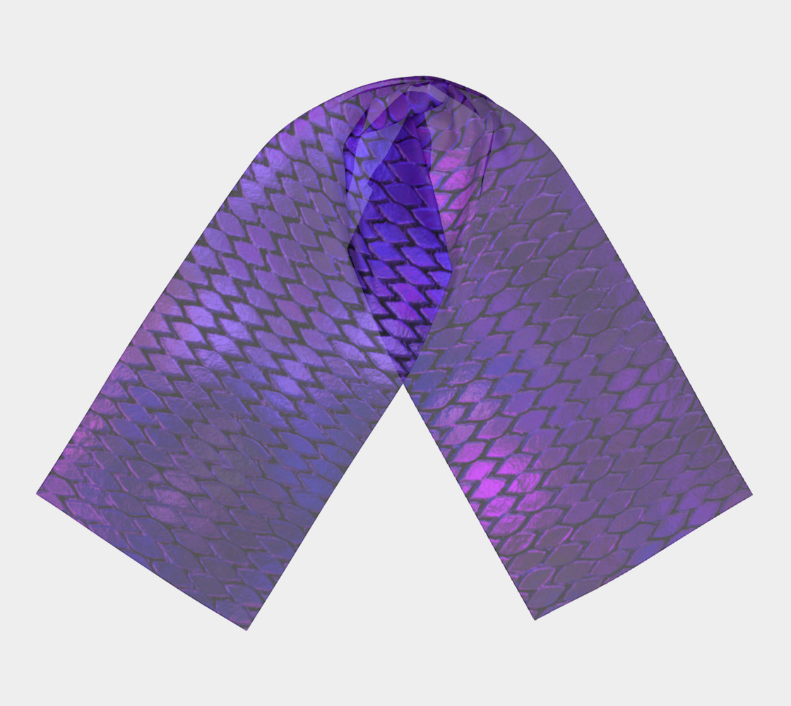 Purple Dragon Scales Long Scarf preview #3