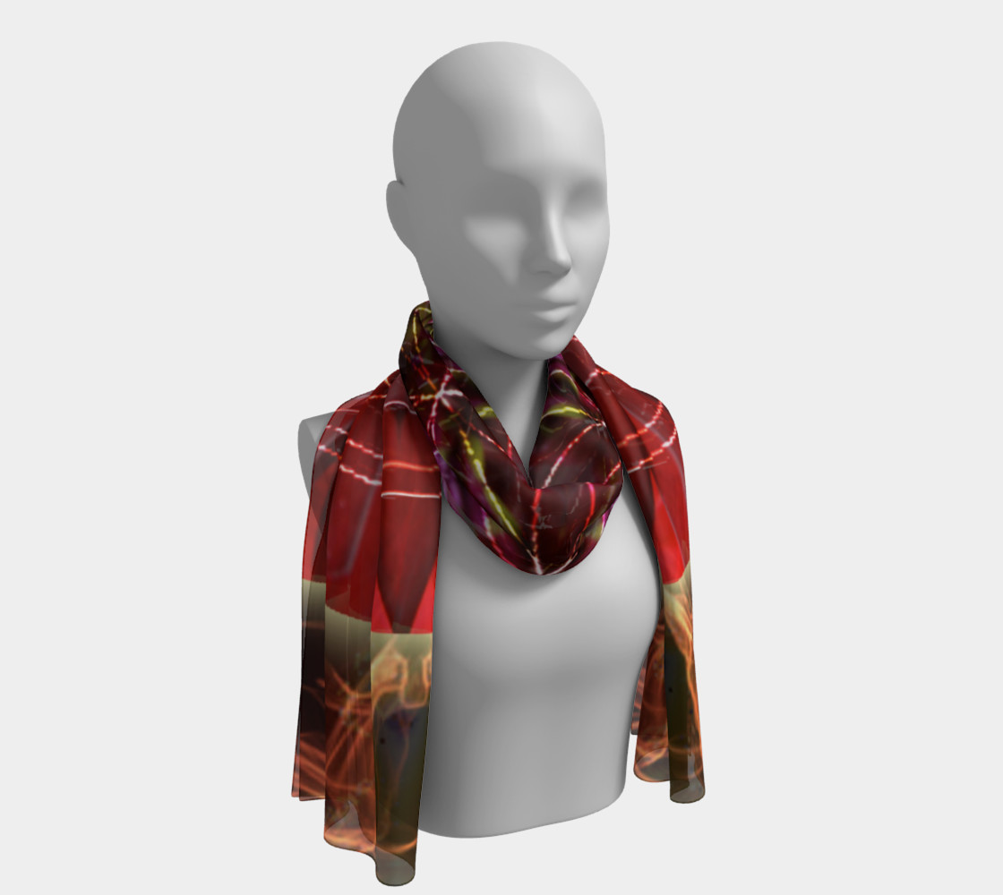Dancing With the Sun Long Silk Scarf preview #1